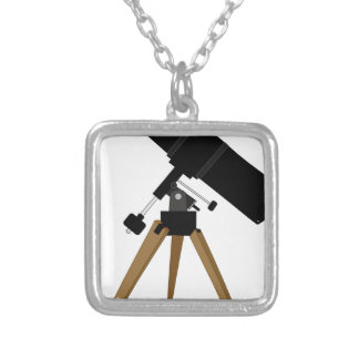 Reflector Telescope Silver Plated Necklace