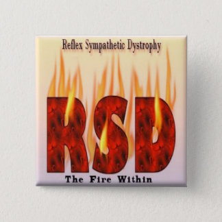 Reflex Sympathetic Dystrophy Awareness Button (Squ