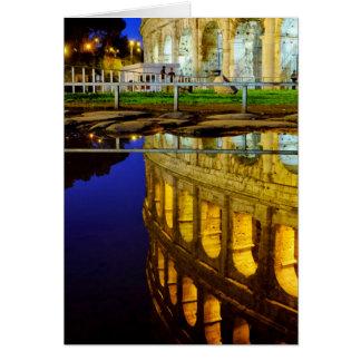 Réflexion du Colosseum Carte De Vœux
