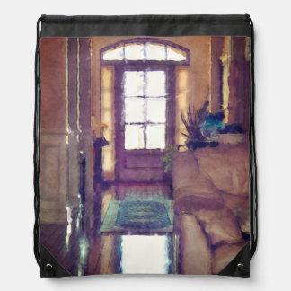 Réflexions sur le design d'intérieur sac avec cordons