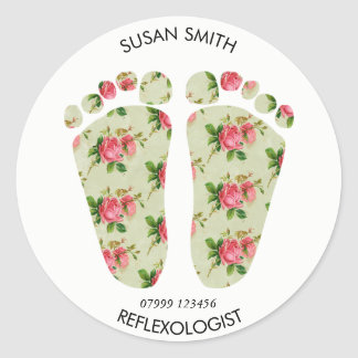 reflexology business logo sticker feet chiropodist