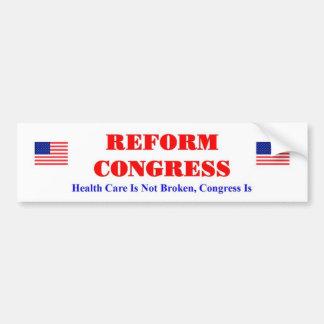 Reform Congress Bumper Sticker