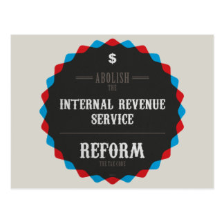 Reform The Tax Code Postcard