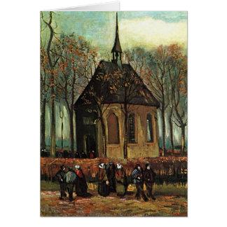 Reformed Church in Nuenen, Van Gogh Fine Art Card