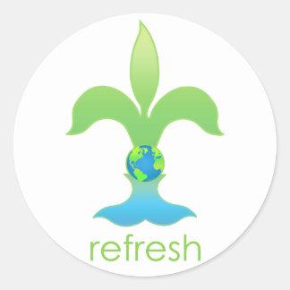 Refresh Classic Round Sticker