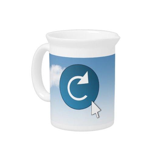 Refresh concept. pitcher