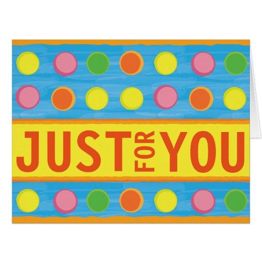 Refresh - Fruity Colourful Polka Dots on Aqua Blue Card