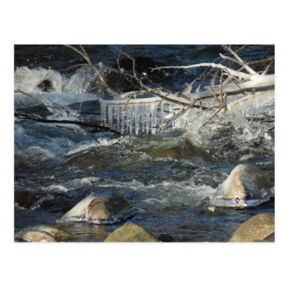 Refreshing Chill - Icy River Postcard