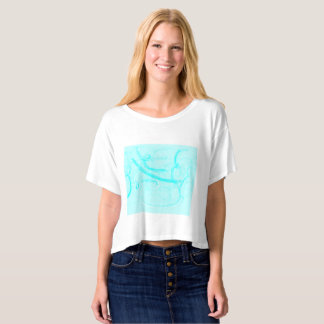 Refreshing color of the sea color shirt