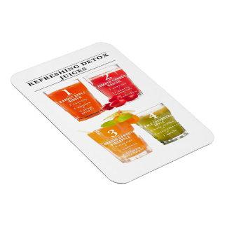 Refreshing Detox Juices Rectangular Photo Magnet