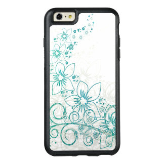 Refreshing Floral Blue Summer Island Design OtterBox iPhone 6/6s Plus Case