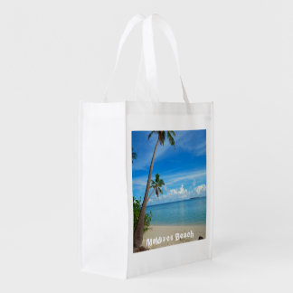 Refreshing Maldives Beach, Reusable Bag