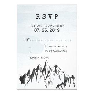 Refreshing Mountain Woodland Forest Wedding RSVP Card