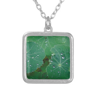 Refreshing Rain Drops Silver Plated Necklace