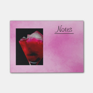 Refreshing Red and Pink Cocktail Post-it Notes