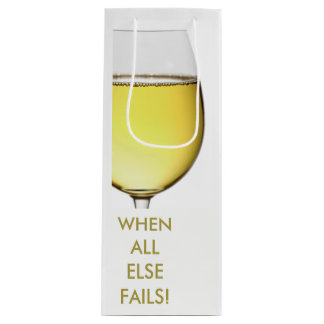 Refreshing White Wine with customisable text Wine Gift Bag