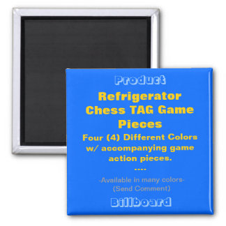 REFRIGERATOR CHESS TAG GAME PIECES SQUARE MAGNET