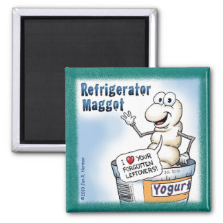 Refrigerator Maggot Magnet