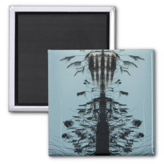 "Refrigerator Magnet ""Fly free""Abstract Black mint"