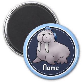 Refrigerator Magnet, Name Template, Walrus 2 Inch Round Magnet