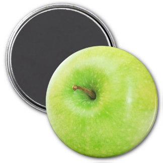Refrigerator Magnet Note Holder, Green Apple
