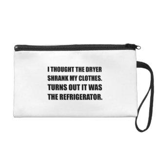 Refrigerator Shrank Clothes Wristlet Clutch