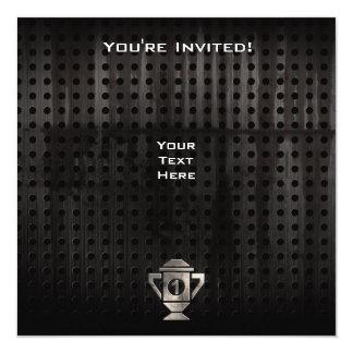 Refroidissez le ęr trophée d'endroit carton d'invitation  13,33 cm