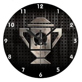 Refroidissez le ęr trophée d'endroit grande horloge ronde