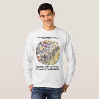 Refugee Water Slides long sleeve cartoon shirt