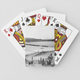 Refugees streaming across _War Image Playing Cards