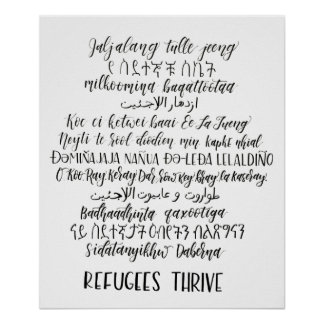 Refugees Thrive Poster