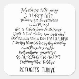 Refugees Thrive Sticker