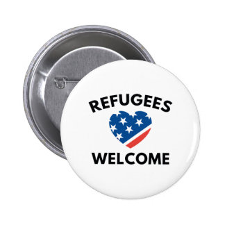 Refugees Welcome 2 Inch Round Button