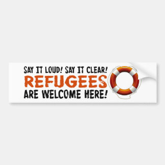 Refugees Welcome Bumper Sticker
