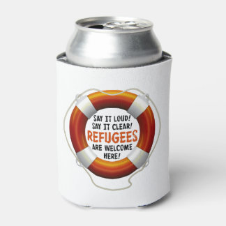 Refugees Welcome Can Cooler