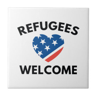 Refugees Welcome Ceramic Tile