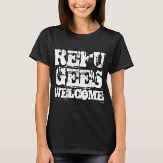 Refugees Welcome in USA America by VIMAGO T-Shirt