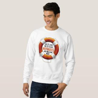 Refugees Welcome Men's Basic Sweatshirt