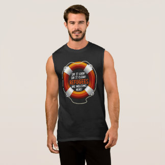Refugees Welcome Men's Dark Muscle Tank