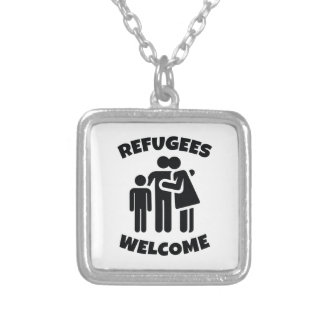 Refugees Welcome Silver Plated Necklace