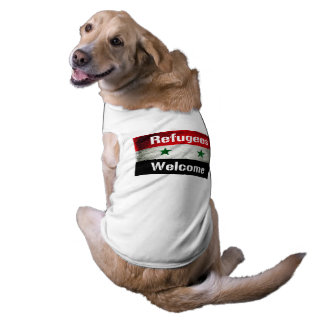 Refugees Welcome Syrian Flag Pet Tee Shirt