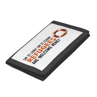 Refugees Welcome Tri-fold Wallet