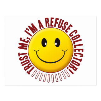 Refuse Collector Trust Smiley Postcard
