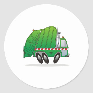 Refuse Truck Classic Round Sticker