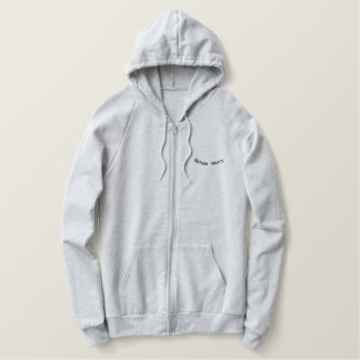 Refuse Worry Embroidered Hoodie