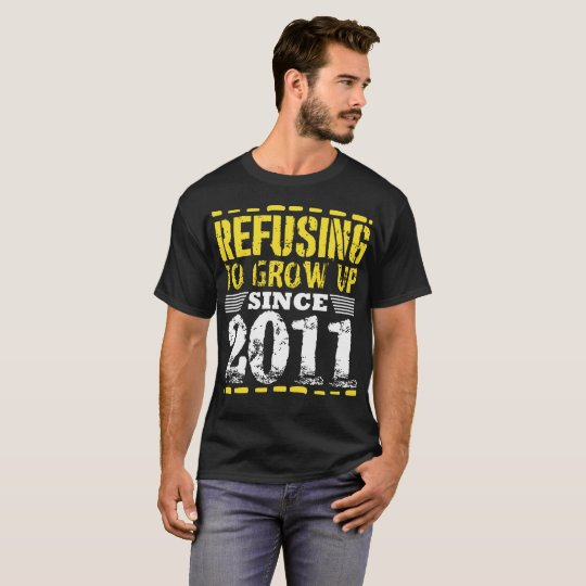 Refusing To Grow Up Since 2011 Vintage Old Is Gold T-Shirt