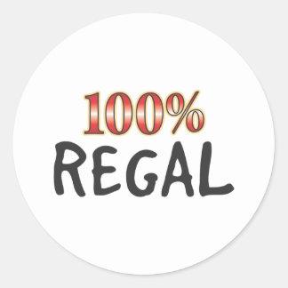 Regal 100 Percent Classic Round Sticker