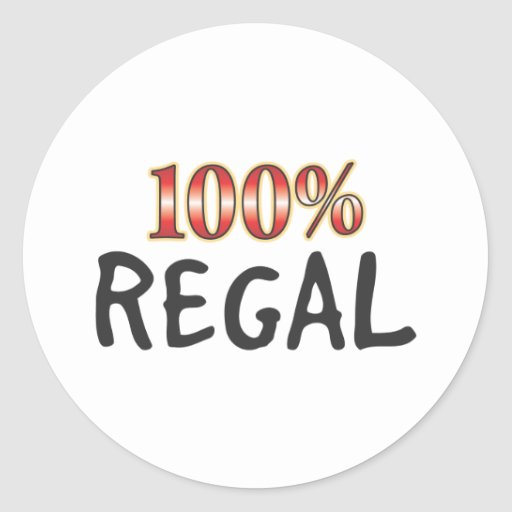 Regal 100 Percent Stickers