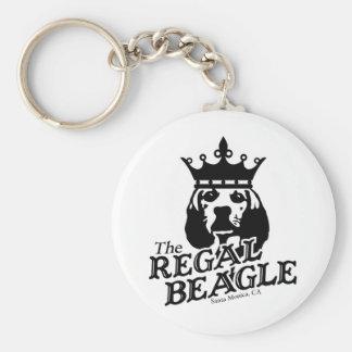 Regal Beagle Basic Round Button Keychain