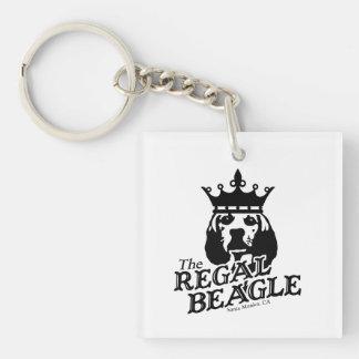 Regal Beagle Single-Sided Square Acrylic Keychain